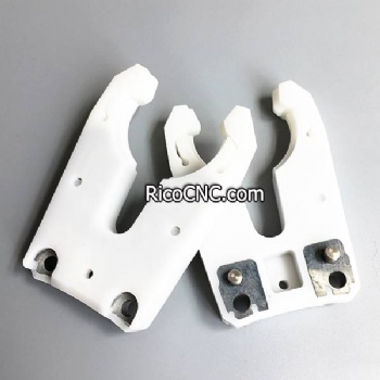 ISO30 White Tool Holder Fork Plastic Tool Clips for CNC Robotics