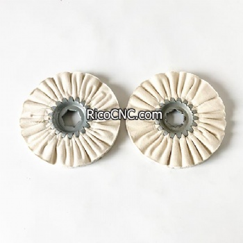 4-005-15-0187 Polishing Wheel 120х19х10mm Buffing Pad for Homag Brandt Edgebander with Hex Center